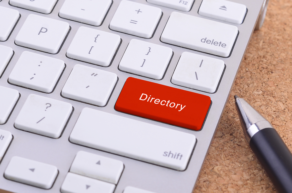 red-directory-button-on-ketboard